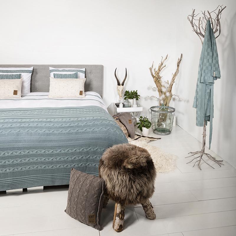 Ruimtes - Slaapkamer - Koele kleuren en warme tinten   Knit Factory